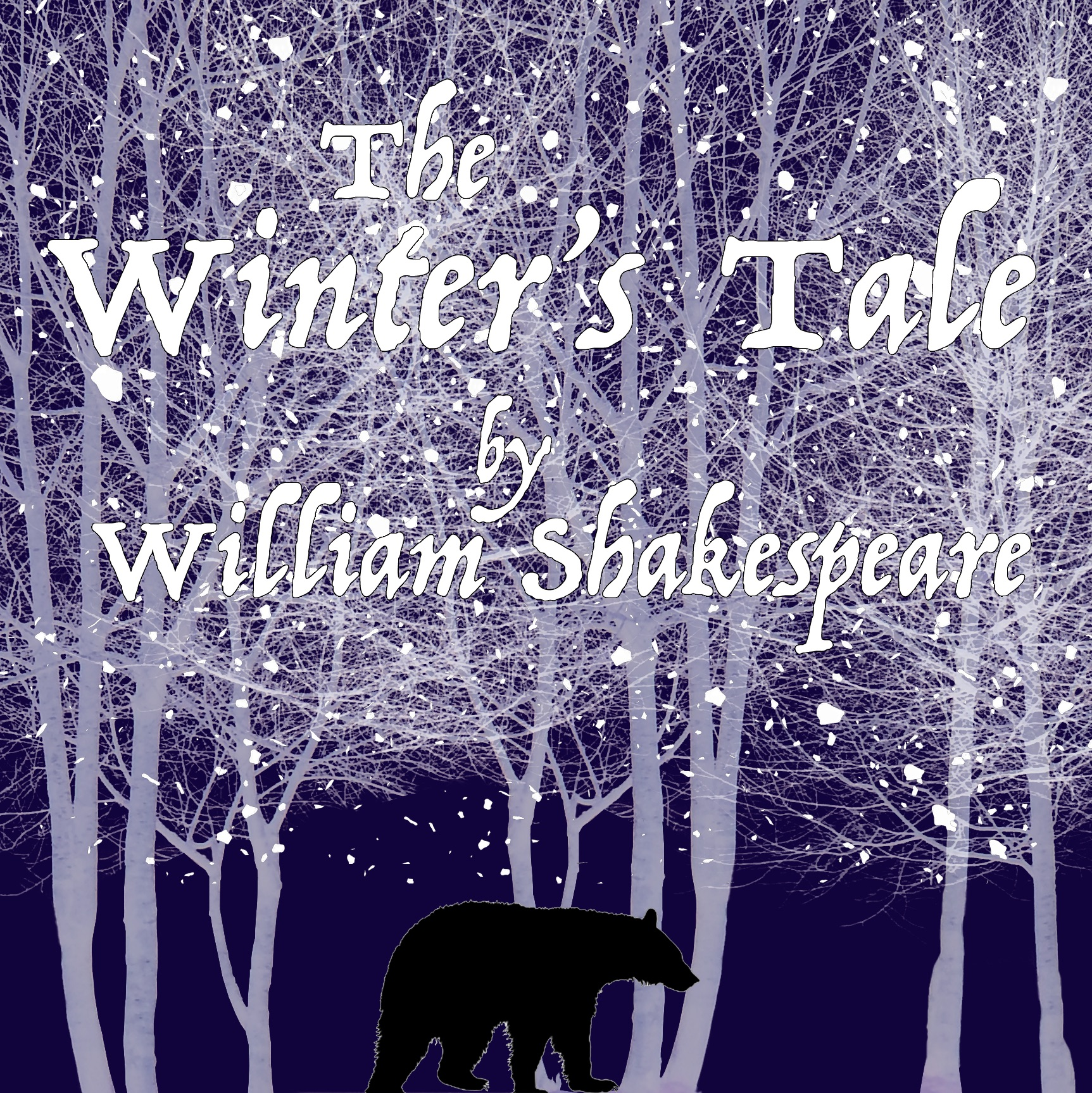 poster for The Winter's Tale featuring birch trees and a bear