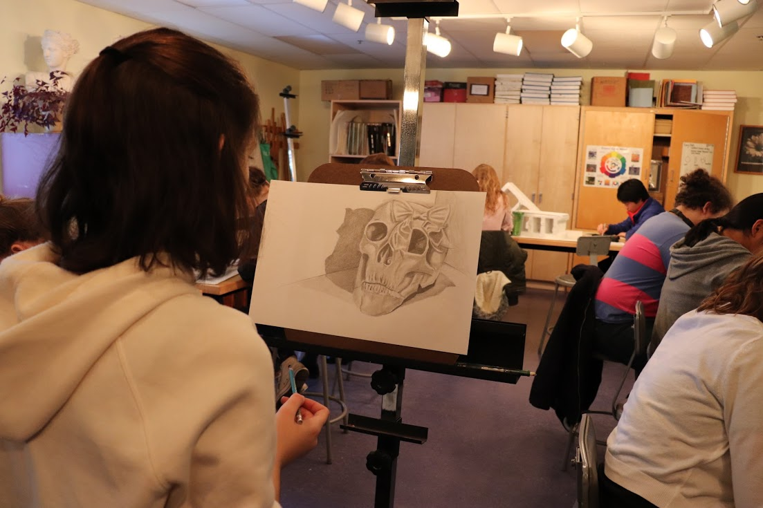 Drawing is one of many visual arts classes at Thornton Academy.