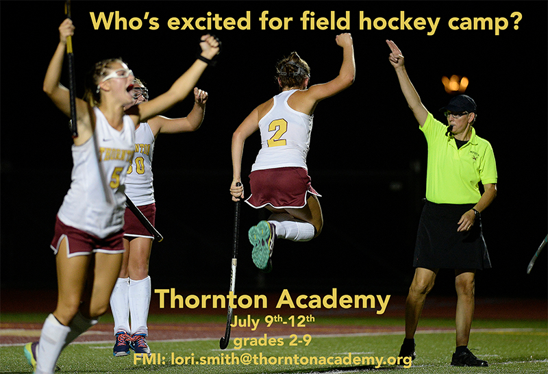 Field Hockey summer camp July 9-12