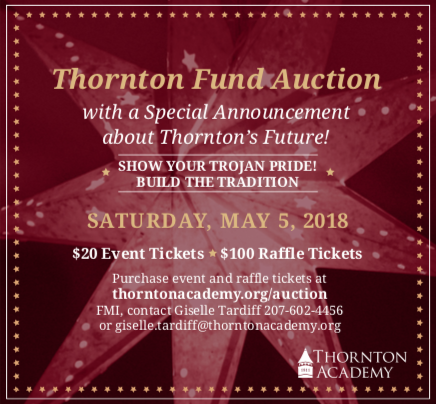Thornton Fund Auction May 5, 2018