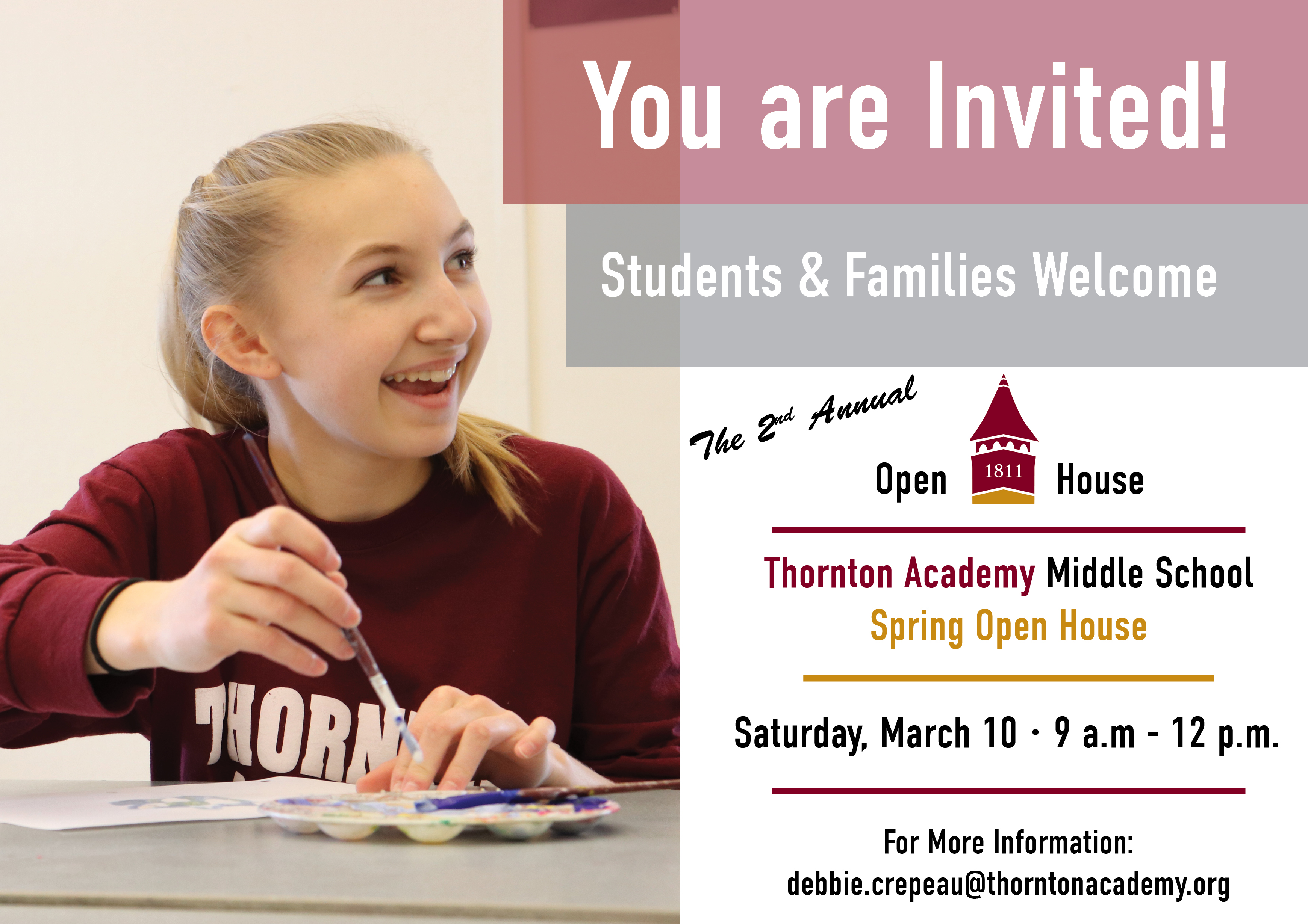 TAMS Open House March 10