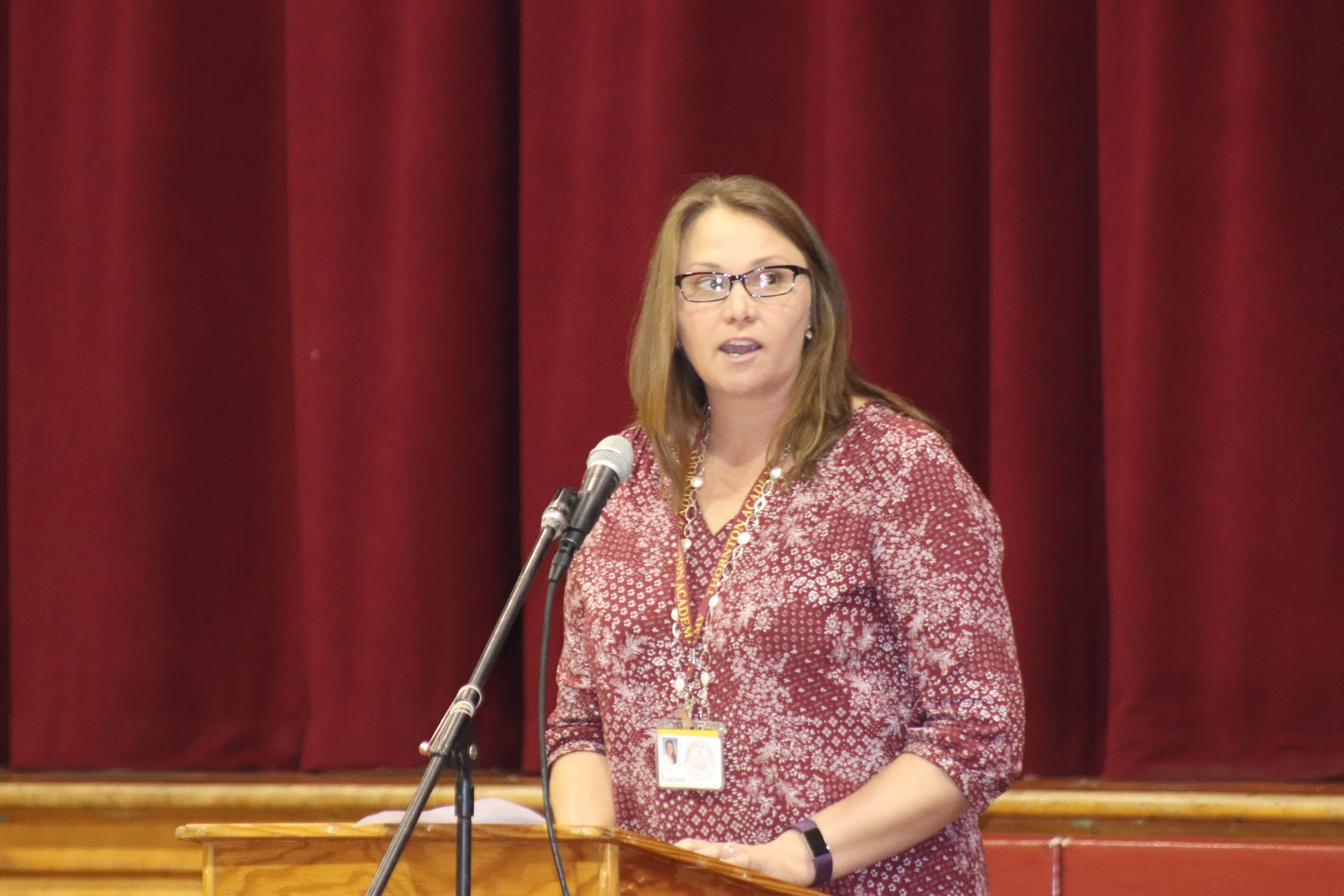 Mrs. Lasante-Ford speaks about responsibility